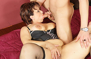 This horny adult slut gets a warm creampie