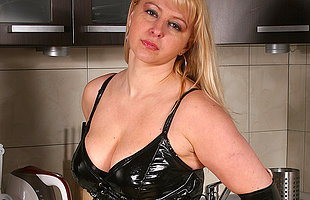Hot blonde MILF carryingon with herself