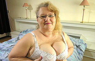 This big ancient lady wants cock together with cum