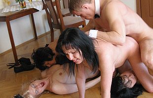 Mature sluts get done at the end of ones tether one strapping young butler