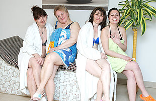 These women love with regard to unwind in an all mature sauna