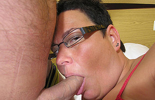 This chunky mama loves a hard cock
