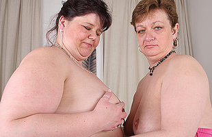 These big mature lesbians love roughly waste pussy