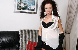 Horny housewife having dealings with herself