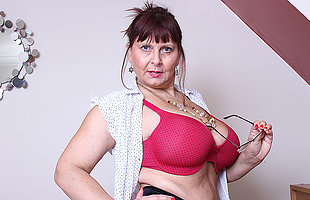 Big breasted British fullgrown lady possessions very dirty