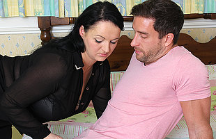 Cute fat British housewife fucking with her lover