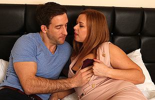 Naughty British mom fucking and sucking her lover