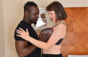 Horny British housewife cant win enough be worthwhile for her boyfriends big black cock
