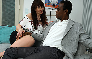 Kinky British sprog doing her black lover