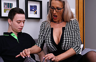 Horny German MILF teaching a toy boy the brush dirty ways