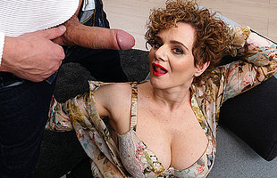 Hot mature MErce loves a throbbing hard cock all round her frowardness pussy and between her tits