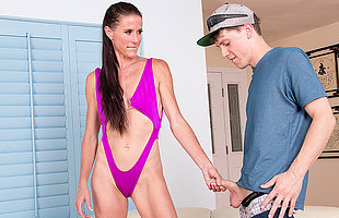 Horny housewife blue ruin the poolboy for hardcore sex