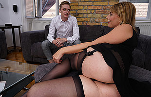 Beautiful Milf is fucked in her pussy and ass by her young toyboy