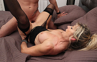 Sexy French Milf Marina Beaulieu sucks a big cock added to gets fucked hard