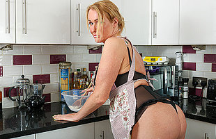 British Milf with great exasperation gets naked during channel on the way and masturbates