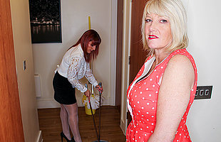 Amy and Beau Diamonds are two hot British lesbian Milfs who go down on each other